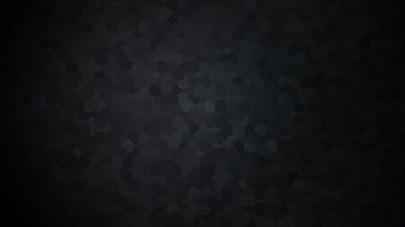 Black abstract background. Random dark spots. Random circles. Vector illustration. Illustration
