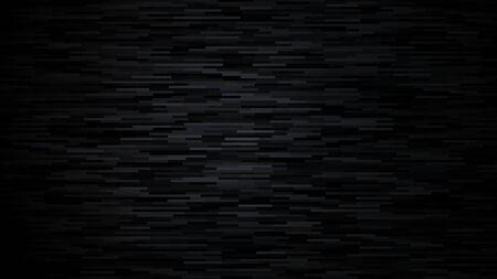 Abstract black background. Dark texture with random horizontal lines. Vector illustration. Illustration
