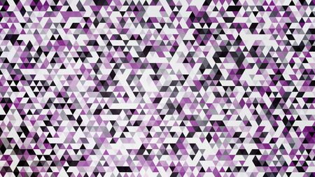 Abstract background random triangles in black and purple. Modern cool background. Vector illustration. Illustration