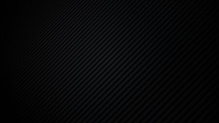 Abstract black background. Dark 3D texture with lines. Vector illustration.
