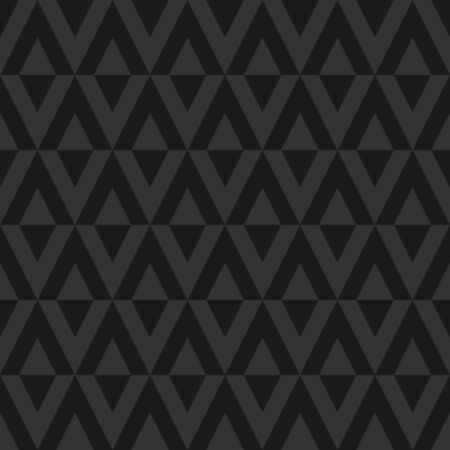 Black seamless abstract background. Ornament of rhombs. Vector illustration.