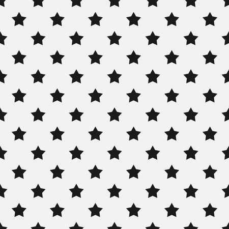 Monochrome stars seamless pattern. Minimalistic texture. Vector illustration. Stock Illustratie