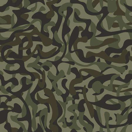 Forest camouflage seamless pattern. Modern background. Vector illustration. Illustration