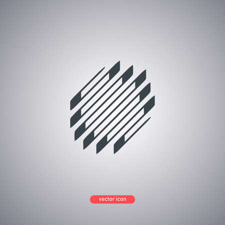 Abstract logo isolated on gray background. Vector illustration. Illustration