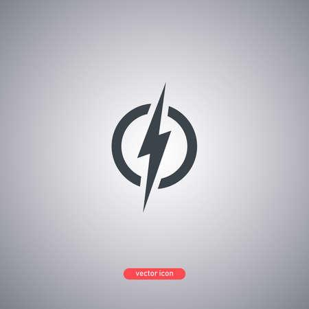 Energy icon isolated on white background. Modern flat style. Vector illustration. Illustration