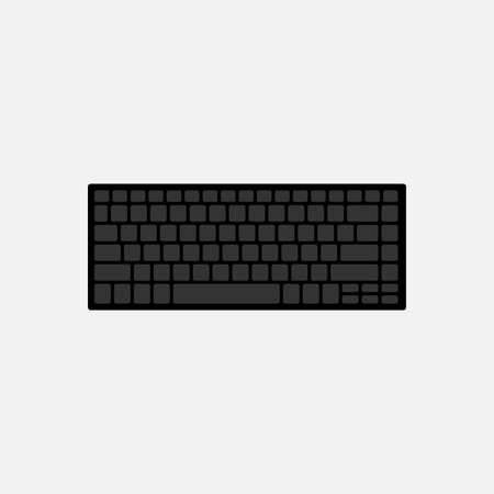 Qwerty standard keyboard keys isolated on white