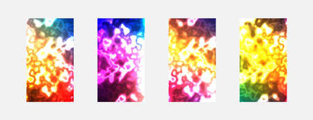 Four colorways colorful abstract backgrounds for your design. Vector illustration. Illustration