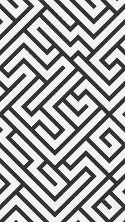 Black and white abstract background in maze style. Vector illustration.