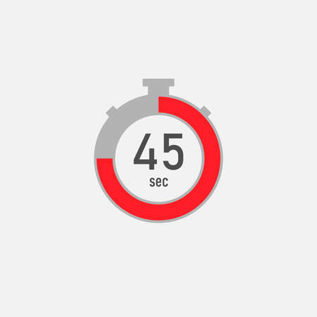 Stopwatch vector icon on a white background