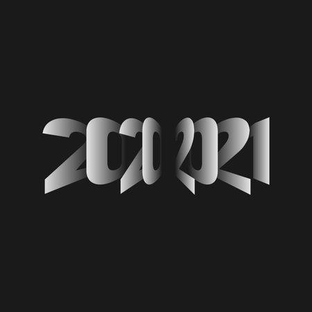 New Year 2021. Minimalistic vector illustration. Illustration