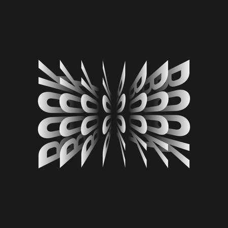 3D vector book signatures on black background.