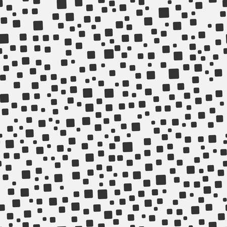 Squares seamless pattern. Black and white monochrome texture. Background for your design. Vector illustration.