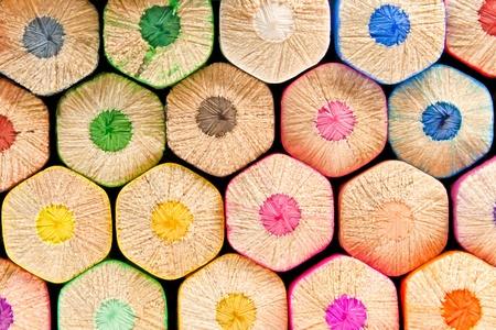 colored pencil: closeup of a wall of colored pencils