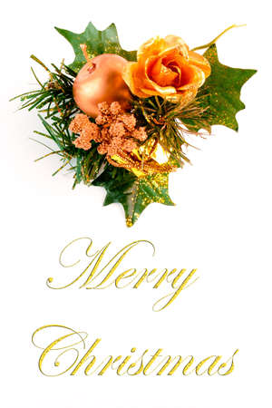 christmas decoration on white background with space for text photo