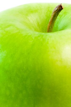 detail of green apple on white background photo