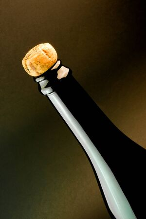 detail of classic champagne bottle with cork Stock Photo - 11781995