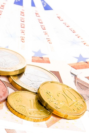zone euro: crise de la zone euro, le d�tail des pi�ces en euros de 50 euros sur les billets de banque Banque d'images