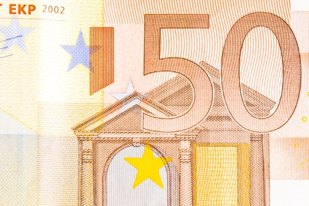 fifty euro banknote: detail of fifty euro banknote