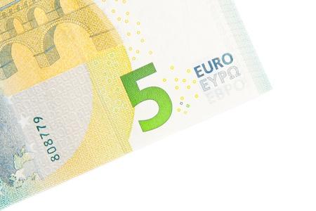 zone euro: d?tail de cinq nouveaux billets en euros arri?re c?t?, la monnaie de la zone euro