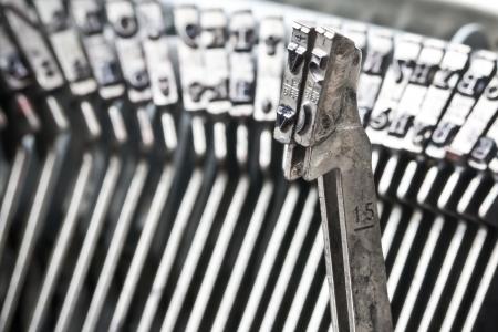 closeup of two type bars of typewriter photo