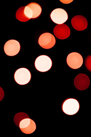 unfocused: Abstract circular bokeh background of Christmaslight