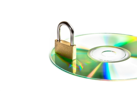 compact disk with a security lock, conceptual of data security