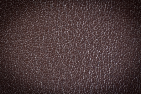 brown leather texture with blue stitching for background photo