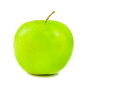 green apple on white background photo