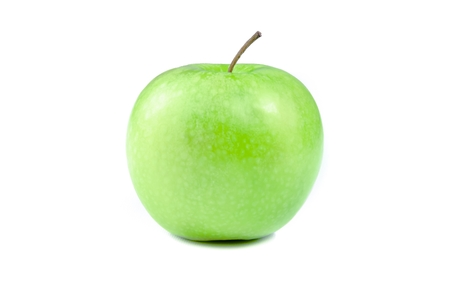 green apple isolated on white background photo