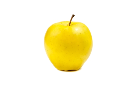 yellow apple isolated on white background photo