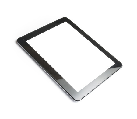digital tablet pc isolated on white background with space for text photo