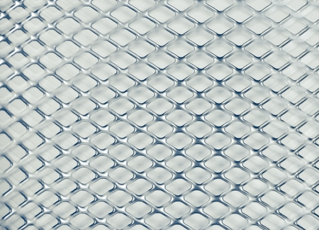 chained link fence: metallic grid texture