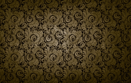 golden victorian vintage seamless pattern background damask texture