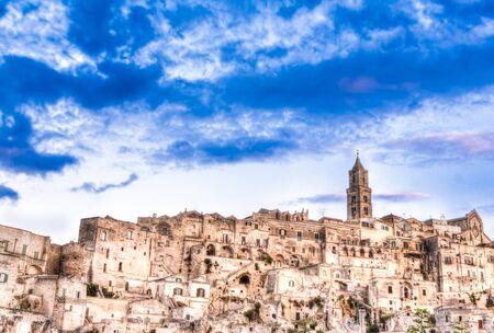 matera: Panoramic view of Matera, Italy.