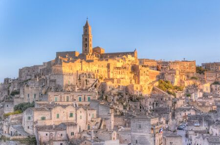 rupestrian: Panoramic view of Matera, Italy. European Capital of Culture 2019 Stock Photo
