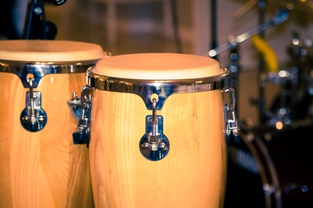 fragment bongos an instrument for percussionists and musicians, african drums photo