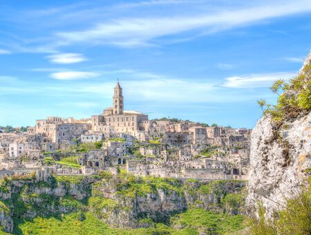 basilicata: Panoramic view of Matera,basilicata, Italy