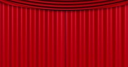 sipario chiuso: chiuso fondo tenda rossa, con chroma schermo verde chiave