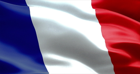 wave equality: waving fabric texture of the flag of france