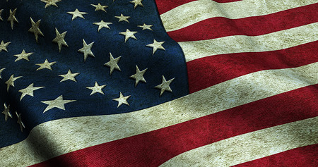 old flag: closeup of grunge American USA flag, united states of america Stock Photo