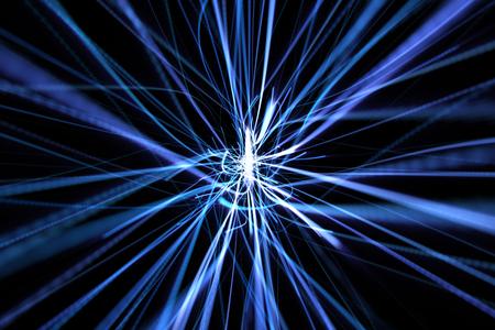 streak lightning: blue dynamic modern abstract wave energy streaks on black background