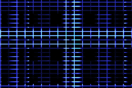 abstract digital vertical and horizontal elettric blue lines background movement, seamless loop ready animation technology Stock Photo