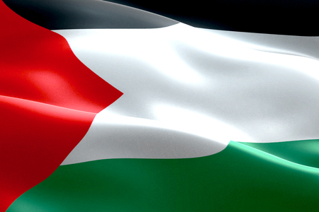 flag of palestine gaza strip waving texture fabric background, crisis of israel and islam palestine, risk war concept