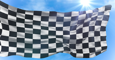 checkered flag, end race background,