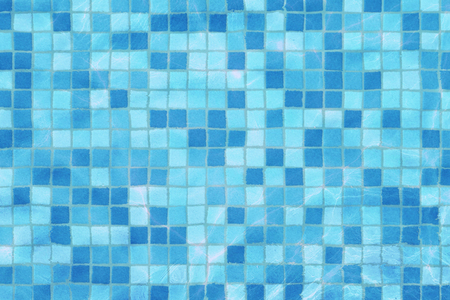 swimming pool mosaic bottom caustics ripple like sea water and flow with waves background, sport and relax concept