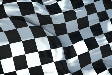 checkered flag, end race background Standard-Bild - 97649987