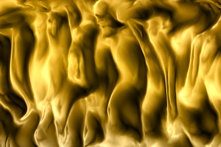 abstract gold metallic fabric waving shape Standard-Bild - 100928237