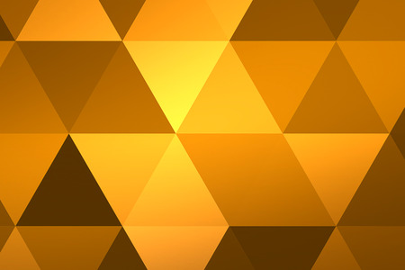 abstract yellow geometric multicolor triangles pattern with seamless, texture concept Standard-Bild - 107668849