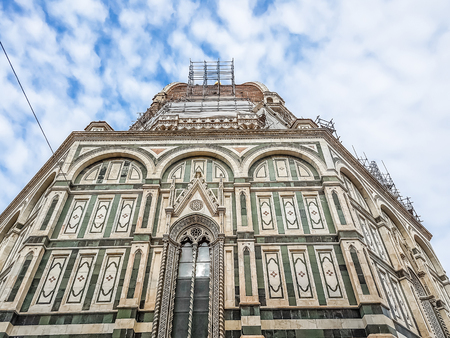 cathedral of Santa Maria del Fiore, florence Firenze, italy with blue sky and clouds, concept of travel Reklamní fotografie