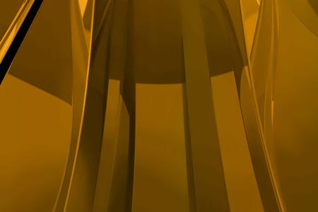 abstract gold metallic fabric geometric shape golden waving background Reklamní fotografie